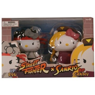 Hello Kitty Street Fighter 2 Figure Pack Ryu & Cammy - multi