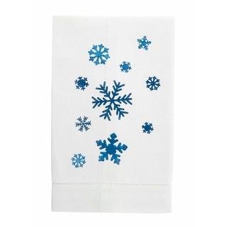 Festive Foil Christmas Linen Tea Towel