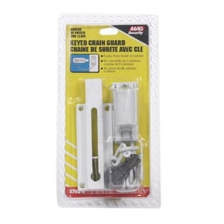 Prime-Line Products U 9872 Keyed Chain Door Guard White Finish