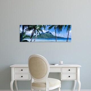 Easy Art Prints Panoramic Images's 'Bora Bora, Tahiti, Polynesia' Premium Canvas Art