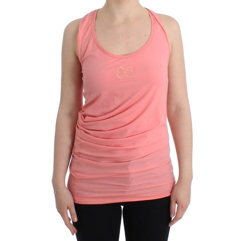 Cavalli Cavalli Pink cotton tank top