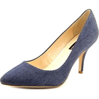 INC International Concepts Zitah Pointed Toe Canvas Heels
