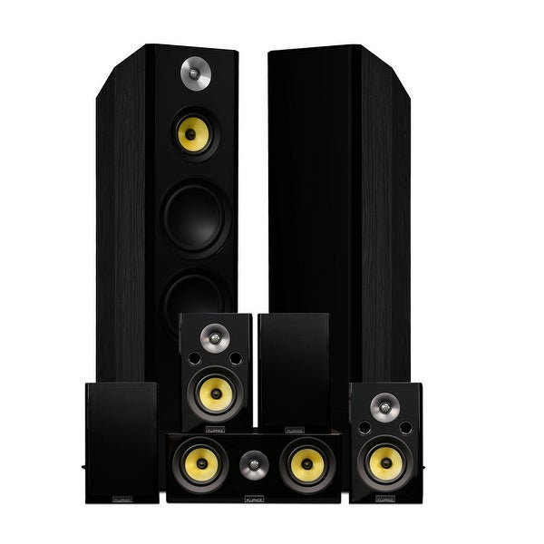 Fluance Signature Series Surround Sound Home Theater 7.0 Channel System - Black Ash (HF70BR)