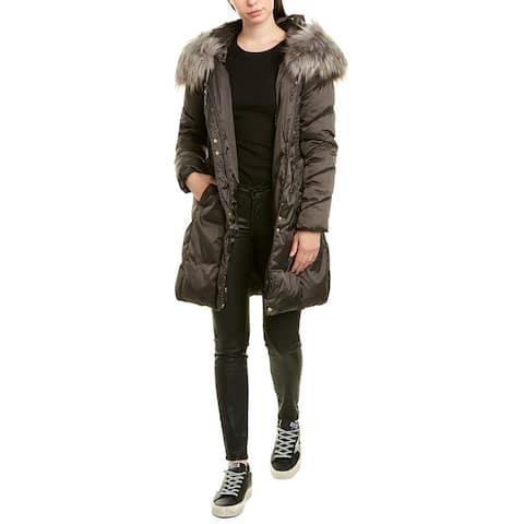 Via Spiga Thread Stitched Medium Puffer Jacket - CONCRETE