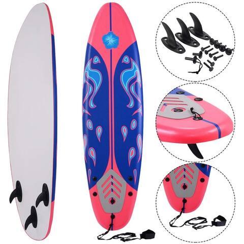 6' Surf Foamie Boards Surfing Beach Surfboard - Red
