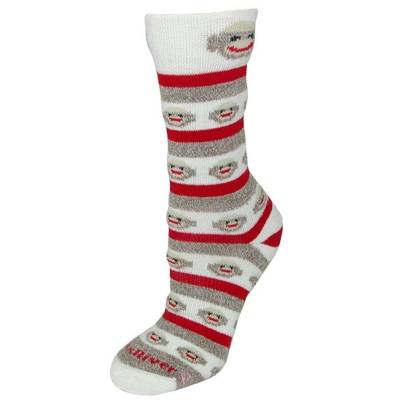 Fox River Women's Red Heel Monkey Stripe Socks