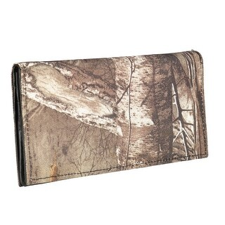 Realtree Men's Leather Checkbook Wallet - One size