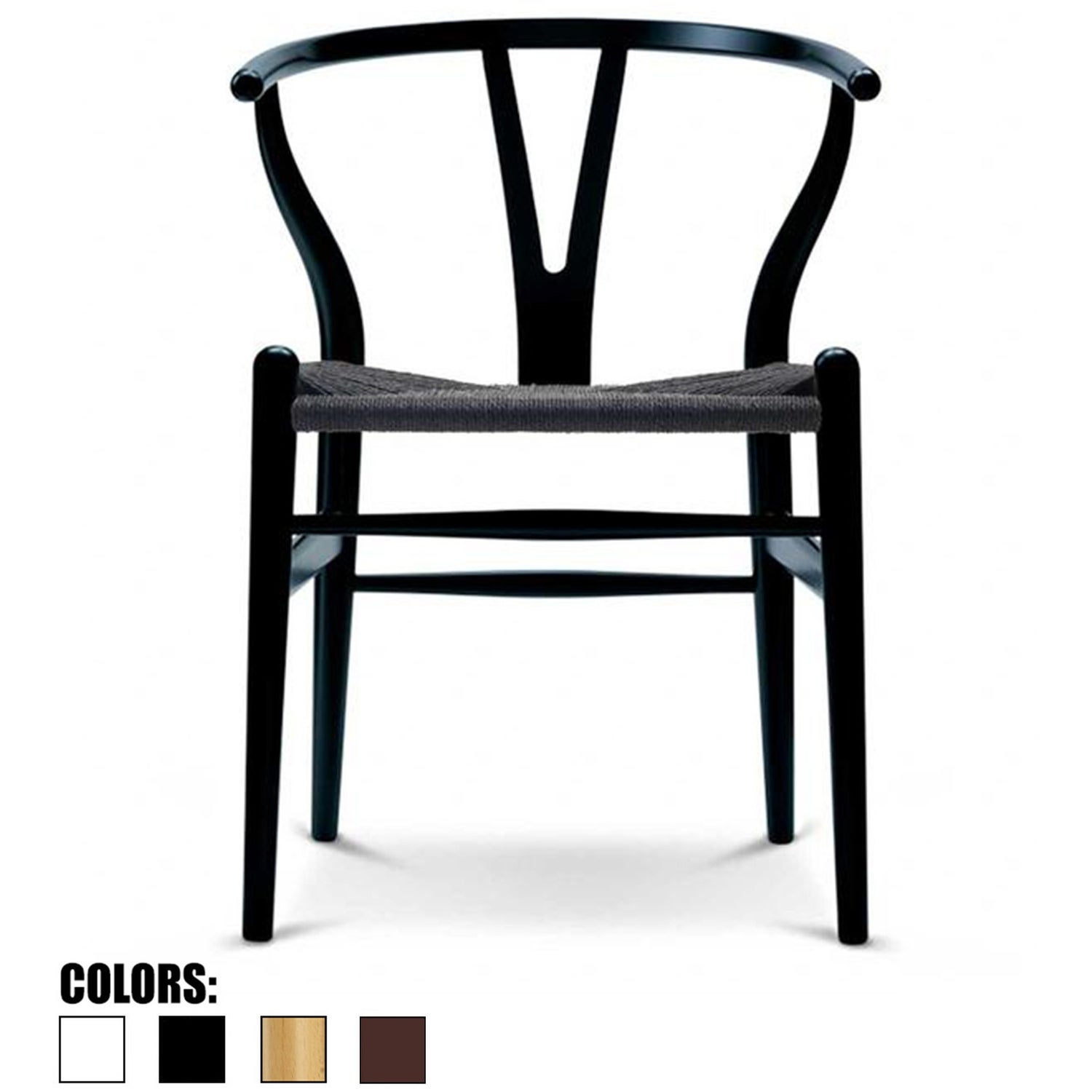 2xhome Woven Wood Armchair With Arms Open Back Mid Century Modern Office Dining Chairs Black Seat