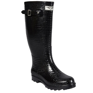 Link to Forever Young Women's Faux Croc Tall Rubber Rain Boots Similar Items in Women's Shoes