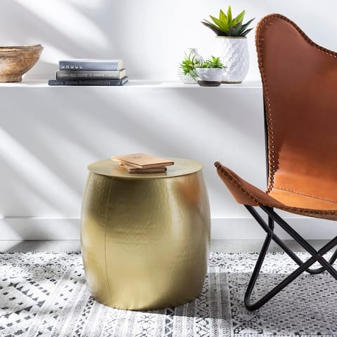 Rocca Hand Hammered Metal Side Table