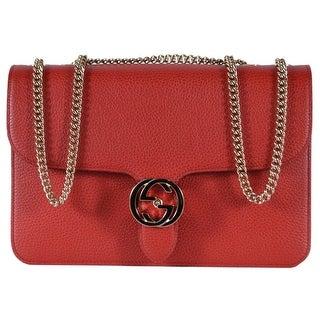 Link to Gucci 510303 Red Leather Interlocking GG Marmont Crossbody Purse Handbag Similar Items in Designer Handbags