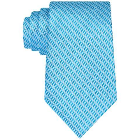 Geoffrey Beene Mens Micro Sun Self-tied Necktie, blue, One Size - One Size