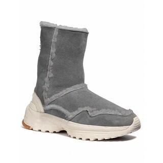 Coach Womens Portia Leather Closed Toe Mid-Calf Fashion Boots