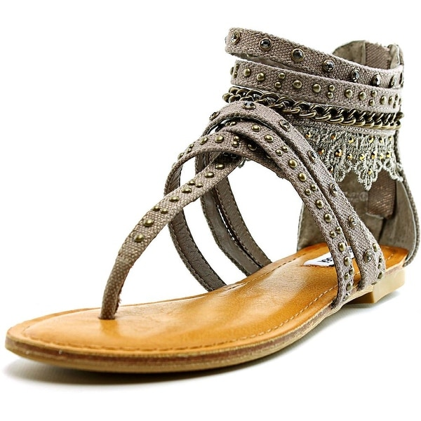 Not Rated Wilma Women Open Toe Canvas Brown Gladiator Sandal