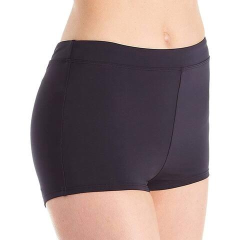 Bleu Rod Beattie Women's Kore Boyshort Bikini Bottom, Black, 12