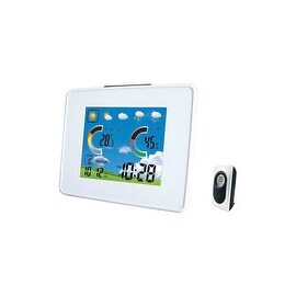 Taylor 1513 Wireless Digital Weather Station With Barometer, White