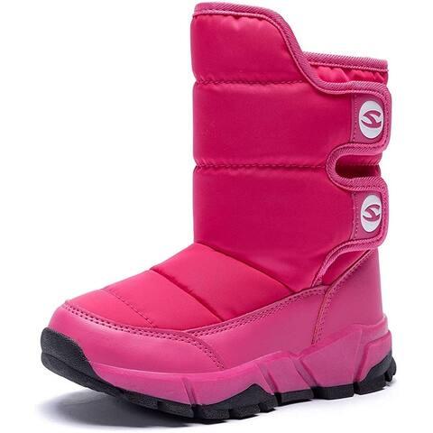 GUBARUN Boys Snow Boots Winter Waterproof Slip Resistant Cold Weather Shoes (Toddler/Little Kid/Big Kid) ...