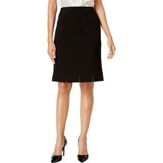 Kasper Womens Petites Straight Skirt Crepe Split Hem - 4P