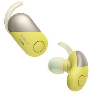 Sony True Wireless Noise Canceling Sports Headphones (Yellow)