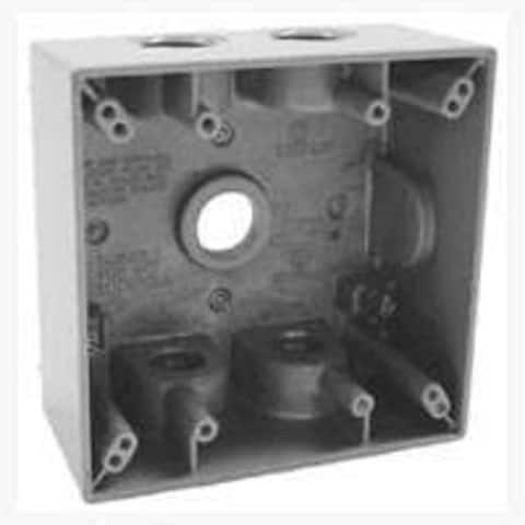 """Bell 5337-0 Two Gang Outlets Weatherproof Box, Aluminum, 5-1/2"""""""