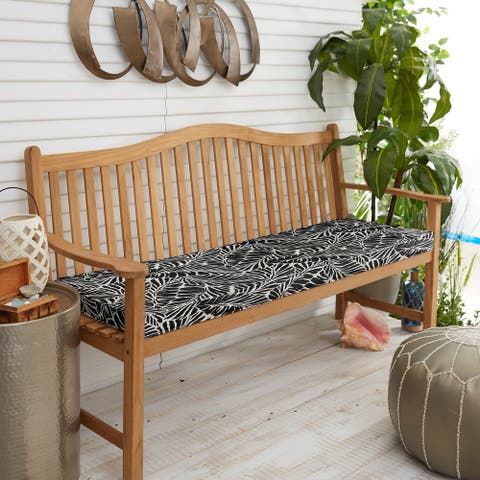 Indoor/ Outdoor Black Bench Cushion