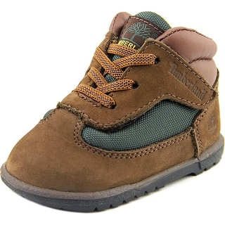 Timberland Field Boot Crib Bootie Infant Round Toe Leather Brown Boot