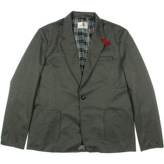 H2H Mens Slim Fit Snap Collar One-Button Blazer - XL