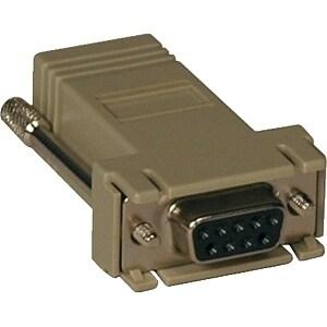 Tripp Lite B090-A9F Tripp Lite B090-A9F Modular Adapter - 1 x DB-9 Female Serial - 1 x RJ-45 Female Network - Beige