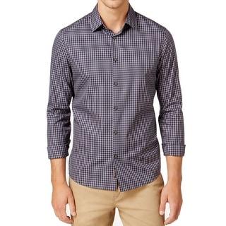 Michael Kors NEW Blue Mens Size Small S Button Down Plaid Print Shirt
