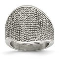 Stainless Steel Textured Ring (5 mm) - Thumbnail 0