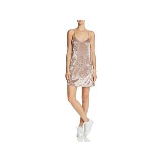 Project Social T Womens Slip Dress Velvet Sleeveless