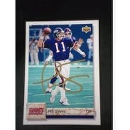 Signed Simms Phil New York Giants 1992 Upper Deck Football Card autographed