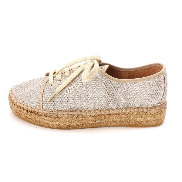 GUESS Womens multi texture Low Top Lace Up Fashion Sneakers - 8