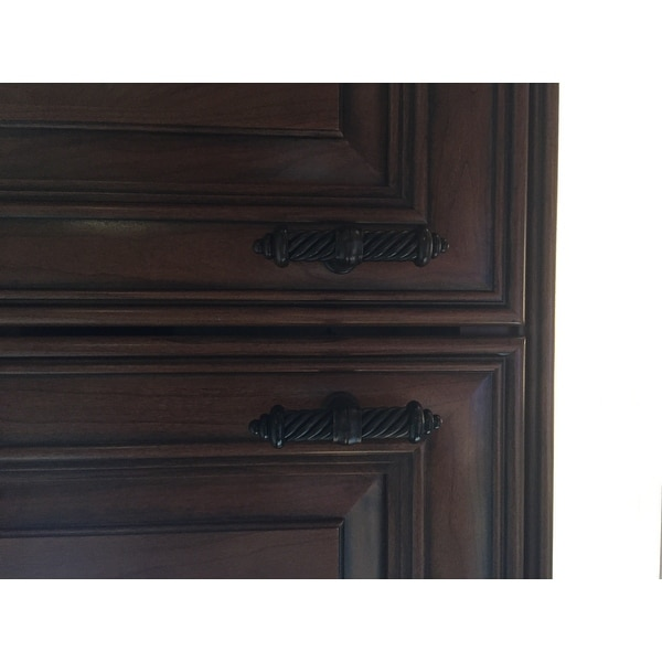 gliderite 35inch oilrubbed bronze twisted cabinet drawer knob pulls pack of 10 free shipping on orders over 45
