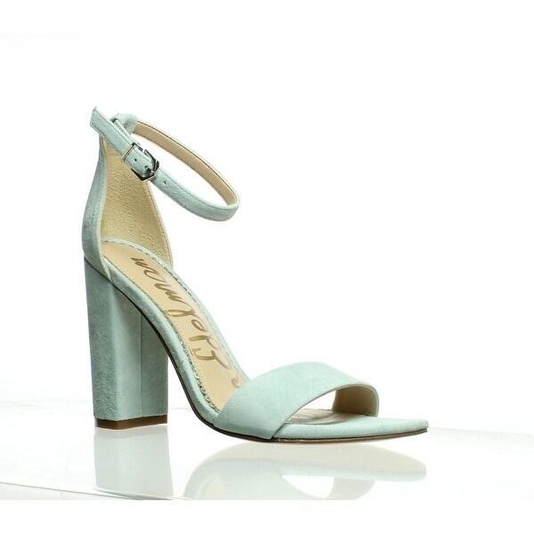 270a5f9ad Shop Sam Edelman Womens Yaro Amalfi Blue Ankle Strap Heels Size 6.5 ...