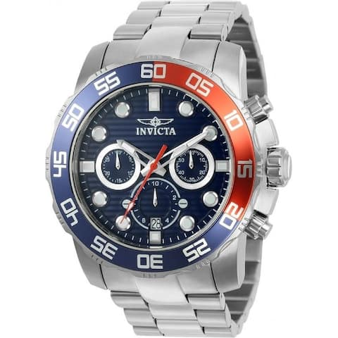Invicta Men's 22225 'Pro Diver' Chronograph Stainless Steel Watch - Blue
