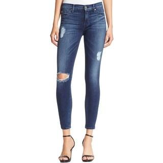 Hudson Womens Nico Ankle Jeans Medium Wash Skinny Fit