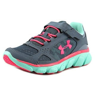 Under Armour UA Assert V Youth Round Toe Synthetic Gray Walking Shoe
