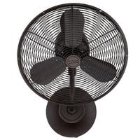 """Craftmade BW116AG3-HW Bellows I 16"""" Indoor Indoor / Outdoor Hard Wired Wall Fan - Aged Bronze"""