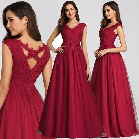 Ever-Pretty Womens Elegant Floral Lace Prom Dresses for Women 07799