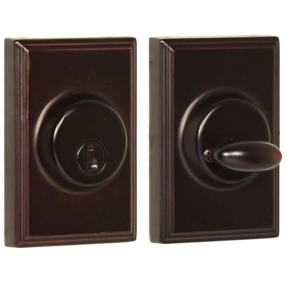 Weslock 3771  Woodward Series Grade 2 Single Cylinder Deadbolt from the Elegance Collection (Oil Rubbed Bronze)