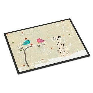 Carolines Treasures BB2569MAT Christmas Presents Between Friends Dalmatian Indoor or Outdoor Mat 18 x 0.25 x 27 in.