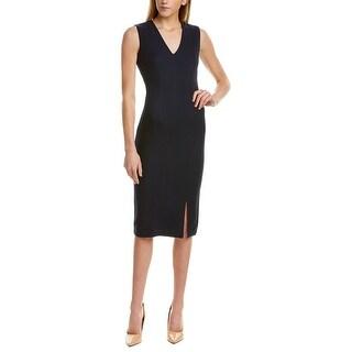 Link to St. John V-Neck Wool & Silk-Blend Midi Dress Similar Items in Dresses