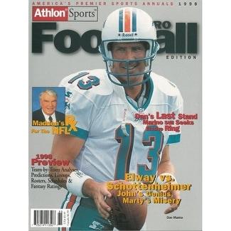 Shop Dan Marino unsigned Miami Dolphins Athlon Sports 1998 NFL Pro