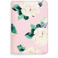 Ban.do Womens Organizer Wallet Faux Leather Floral Print - O/S