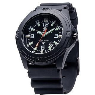 Smith & Wesson Soldier Watch Rubber Strap SWISS TRITIUM 43mm 10ATM - Black