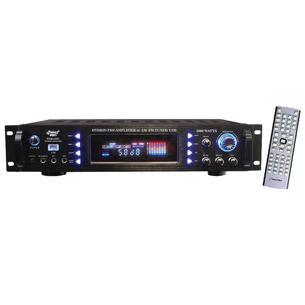 Shop Pyle Pro 3000w Hybrid Pre Amp With Am Fm Usb Free