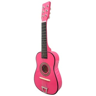 Envo Toys Acoustic Toy Guitar Musical Instrument Play Set Hot Pink