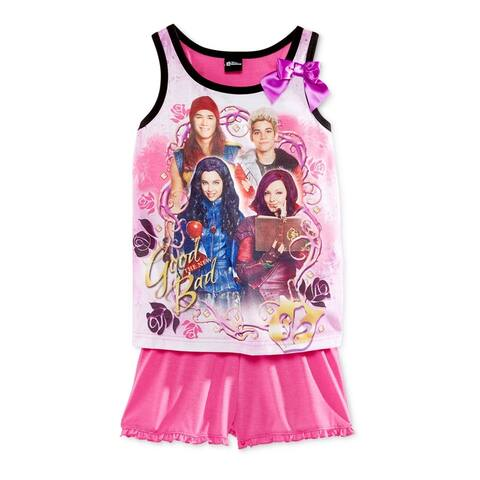 Disney Girls 2-Piece Tank And Short Pajama Sleep Tank Top - 4