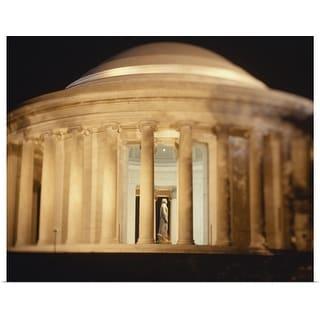 """Jefferson Memorial illuminated at night, Washington DC"" Poster Print"